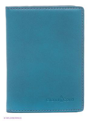 Обложка для паспорта Gianni Conti. Цвет: морская волна