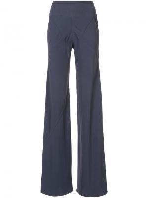 Прямые брюки свободного кроя Rick Owens. Цвет: розовый и фиолетовый