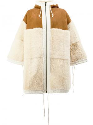 Свободное пальто с капюшоном Toogood. Цвет: телесный