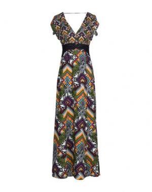 Длинное платье MISS BIKINI. Цвет: зеленый-милитари