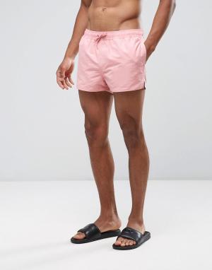 ASOS Короткие розовые шорты для плавания. Цвет: розовый