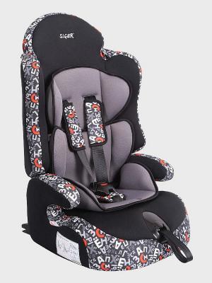 Детское автомобильное кресло ПРАЙМ Isofix коллекция ART SIGER. Цвет: серый