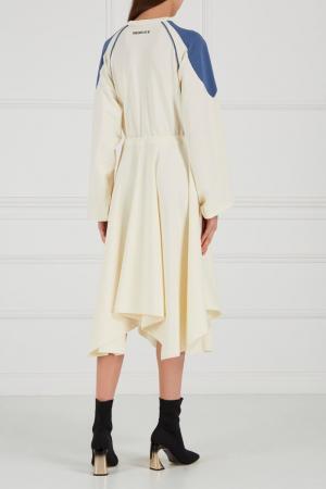 Платье с асимметричным подолом Sorry, i'm Not. Цвет: бежевый