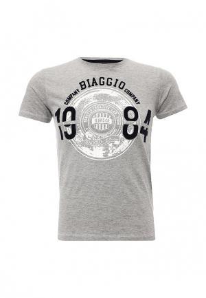 Футболка Biaggio. Цвет: серый