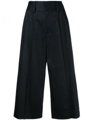 Укороченные брюки Santana Alice+Olivia. Цвет: чёрный