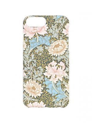 Чехол для iPhone 7Plus Нежные пионы Арт. 7Plus-261 Chocopony. Цвет: бежевый, голубой, розовый