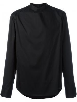 Рубашка с накладной вставкой и воротником-стойкой Wooyoungmi. Цвет: чёрный