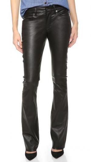 Расклешенные кожаные брюки Jackson RtA. Цвет: голубой