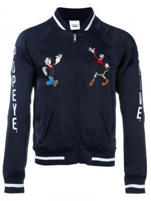 Куртка Popeye & Olive Souvenir Joyrich. Цвет: синий