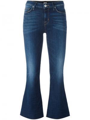Укороченные расклешенные джинсы Mia Hudson. Цвет: синий