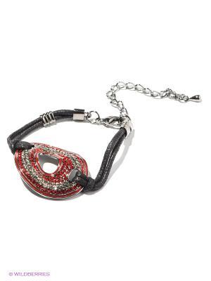 Браслет Royal Diamond. Цвет: красный, черный, серебристый