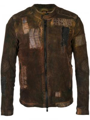 Лоскутная куртка Giorgio Brato. Цвет: коричневый
