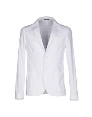 Пиджак DANIELE ALESSANDRINI. Цвет: белый