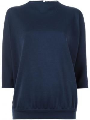 Трикотажный свитер Sybilla. Цвет: синий