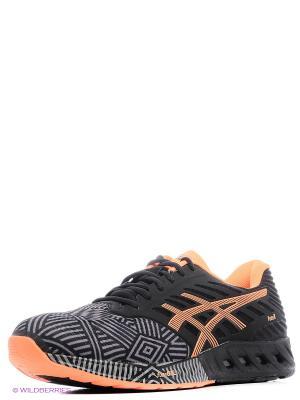 Спортивная обувь fuzeX ASICS. Цвет: черный, серый, оранжевый