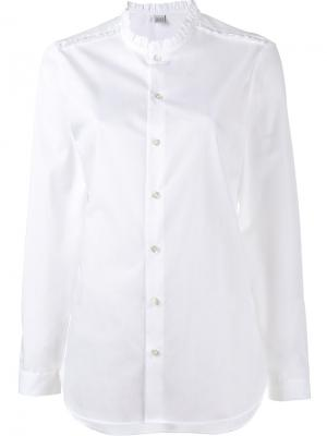 Рубашка с оборками Marie Marot. Цвет: белый