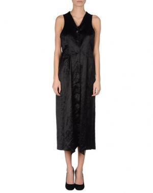 Платье длиной 3/4 AINOS. Цвет: черный