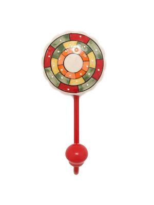 Вешалка-крючок ГАНГ. Цвет: зеленый, красный