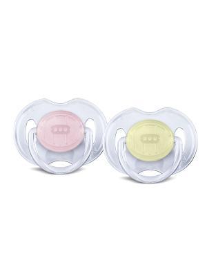 Пустышка Philips Avent серия Classic SCF170/18, 2 шт., 0-6 мес.. Цвет: желтый, розовый