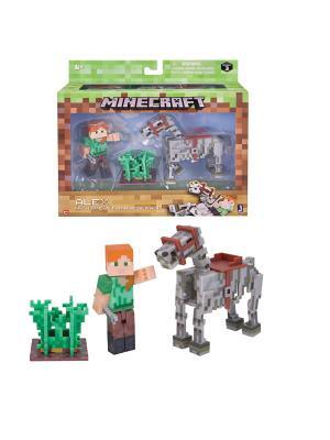 Набор MINECRAFT  Алекс с скелетом лошади 3 предм.. Цвет: прозрачный