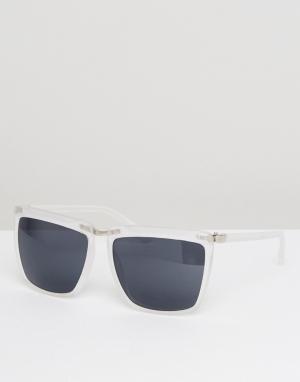 AJ Morgan Солнцезащитные очки с квадратной оправой. Цвет: кремовый