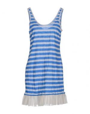 Короткое платье KAREN WALKER. Цвет: лазурный
