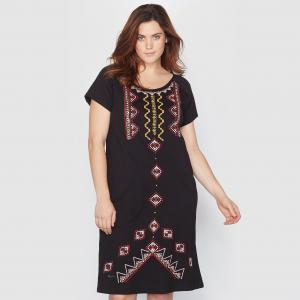 Платье, расшитое бусинами TAILLISSIME. Цвет: кирпичный