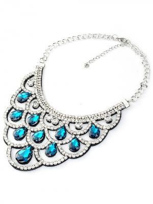 Воротник-ожерелье Chantal. Цвет: черный, белый, синий