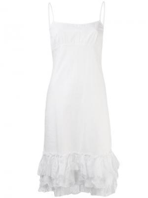 Платье на бретельках Dosa. Цвет: белый