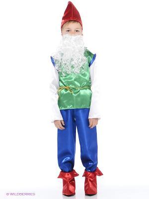 Карнавальный костюм Гном Батик. Цвет: лазурный, синий