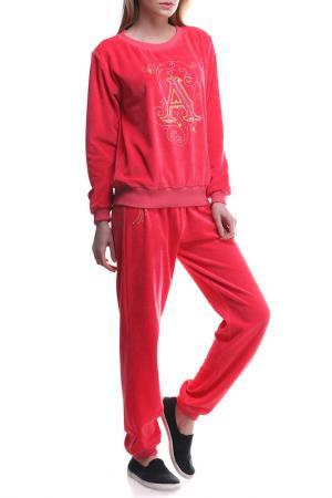Костюм: кофта, брюки Majaly. Цвет: коралловый
