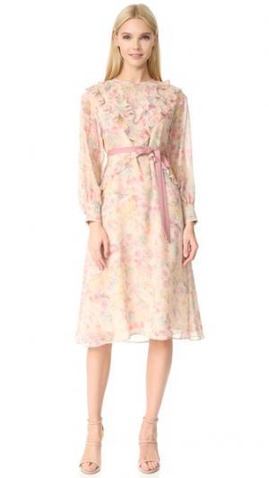 Платье Shadow Rose Leur Logette. Цвет: бежевый