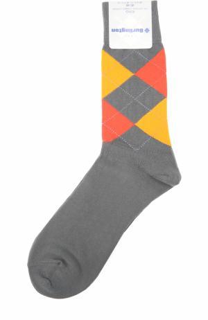 Хлопковые носки King Burlington. Цвет: серый