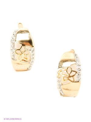 Серьги Royal Diamond. Цвет: золотистый