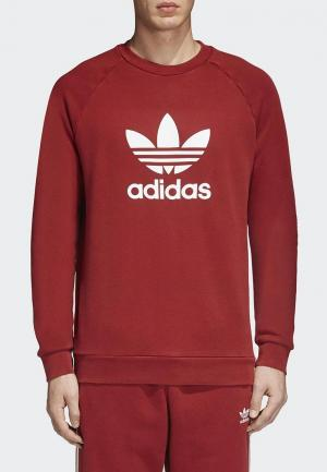 Свитшот adidas Originals. Цвет: красный