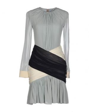 Короткое платье DANIELE CARLOTTA. Цвет: небесно-голубой