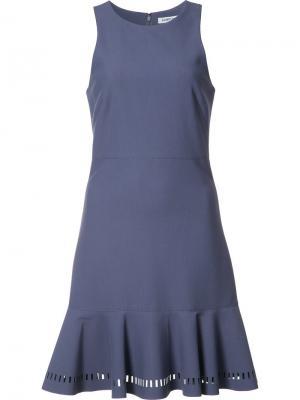 Платье с оборками без рукавов Elizabeth And James. Цвет: синий