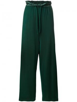 Широкие брюки Mm6 Maison Margiela. Цвет: зелёный