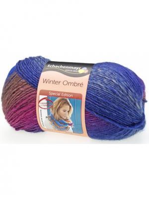 Пряжа Schachenmayr (80% акрил, 20% шерсть), 375м/150г (00088). Цвет: голубой, коричневый, розовый, фиолетовый