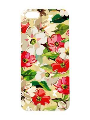 Чехол для iPhone 5/5s Цветы маслом Арт. IP5-038 Chocopony. Цвет: белый, черный