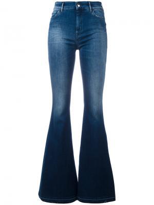 Эластичные джинсы клеш The Seafarer. Цвет: синий