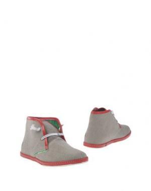 Полусапоги и высокие ботинки LE CROWN. Цвет: светло-серый