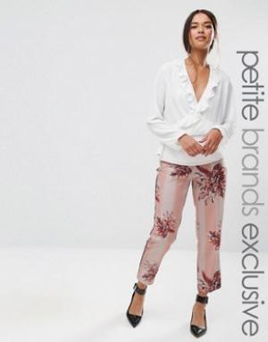 Alter Petite Пижамные брюки с цветочным принтом и полосками. Цвет: мульти