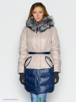 Пуховик-пальто VIZANI. Цвет: синий