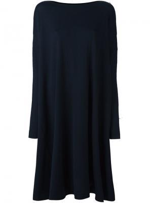Свободное платье с вырезом-лодочка Daniela Gregis. Цвет: синий