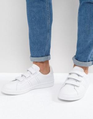 Fred Perry Белые кожаные кроссовки на липучках B721. Цвет: белый