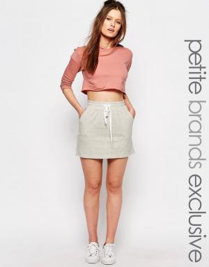 One Day Petite Трикотажная юбка для миниатюрных. Цвет: серый