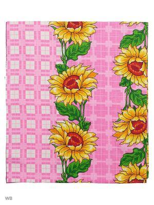 Полотенце вафельное банное Римейн. Цвет: розовый