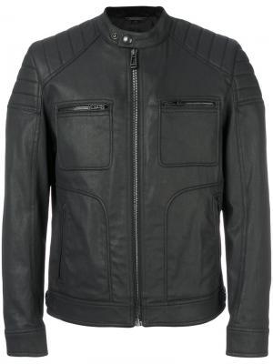 Куртка с воротником-стойкой Belstaff. Цвет: чёрный