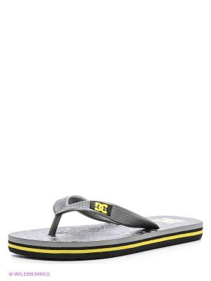 Шлепанцы SPRAY GRAFFIK B SNDL DC Shoes. Цвет: серый